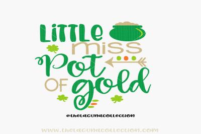Little Miss Pot of Gold SVG