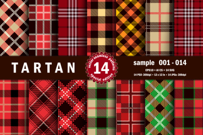 Seamless  Tartan Pattern Part - 01