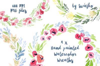 Watercolor Floral Frames