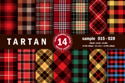 Seamless  Tartan Pattern Part - 02