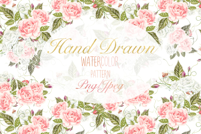 15 Hand Drawn Watercolor PATTERNS