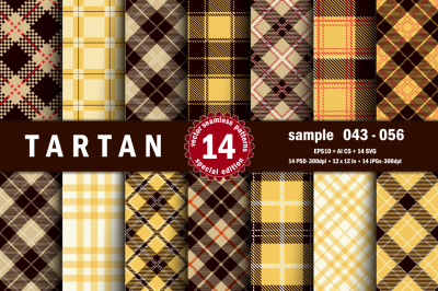 Seamless  Tartan Pattern Part - 04