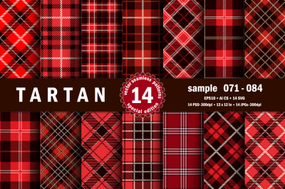 Seamless  Tartan Pattern Part - 06