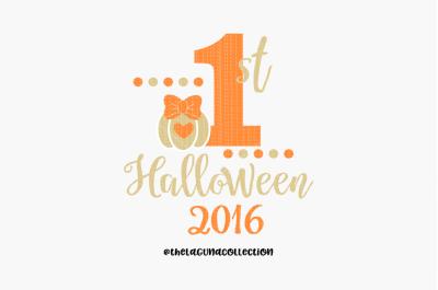 First Halloween SVG