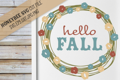 Hello Fall Pretty Wreath