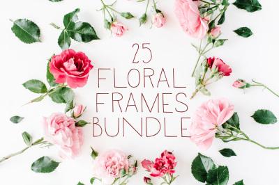 25 Floral Frames Bundle #2