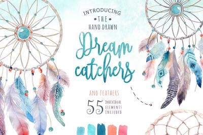 30% off Watercolor dreamcatcher III
