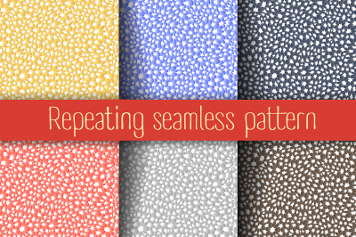 Seamless abstract pattern of animal elements