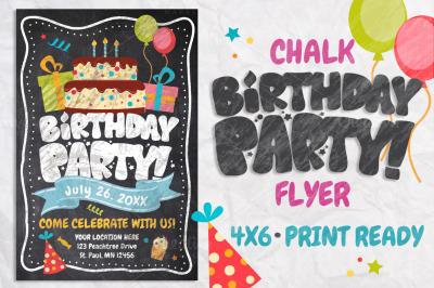 Chalk Birthday Flyer