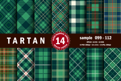 Seamless  Tartan Pattern Part - 08