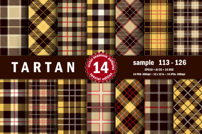 Seamless  Tartan Pattern Part - 09
