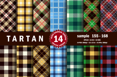 Seamless  Tartan Pattern Part - 12