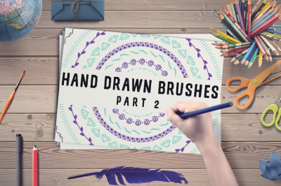 50 Hand Drawn Brushes, part 2 - AI