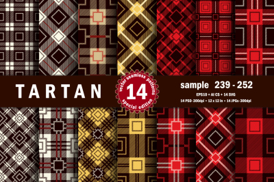 Seamless  Tartan Pattern Part - 18