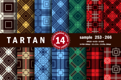 Seamless  Tartan Pattern Part - 19
