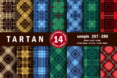 Seamless  Tartan Pattern Part - 20