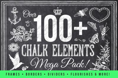 100 Chalk Elements Mega Bundle