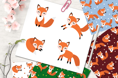 Cute fox patterns