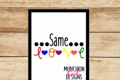 Same Love Cutting Design