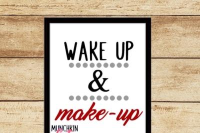 Wake up and Make Up Cutting Design