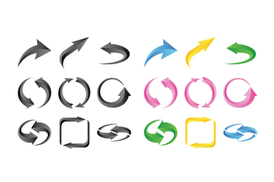 Arrows Icons Set Collections