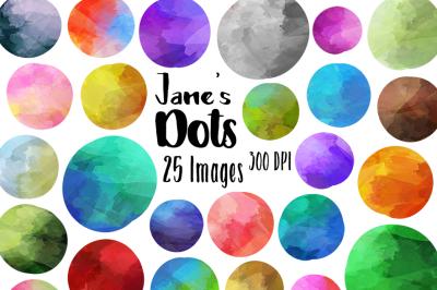 Watercolor Circles Clipart