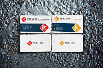 business card & letter K