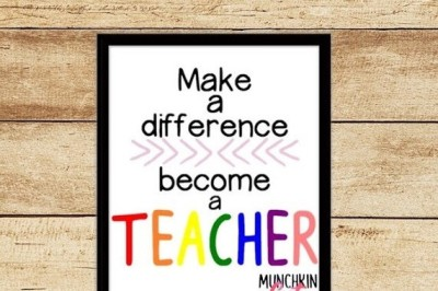 Make A Difference-Become A Teacher Cutting Design