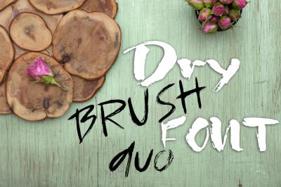 Grunge dry brush font duo