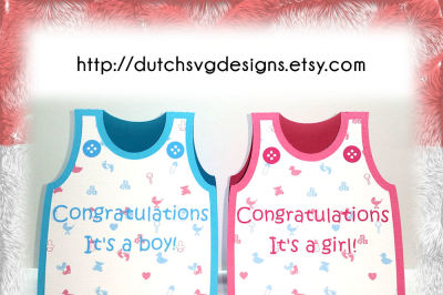 Birth card cutting file baby romper with text and buttons, for a boy and a girl, in Jpg Png SVG EPS DXF, Cricut & Silhouette, birthday, baby boy girl