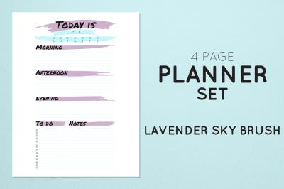 Planner Set - Lavender Sky Brush