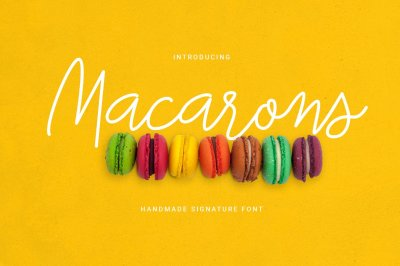 Macarons Font and Extras