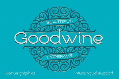 Goodwine Font, Label, Mockup