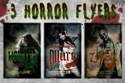 3 Horror Flyer Bundle