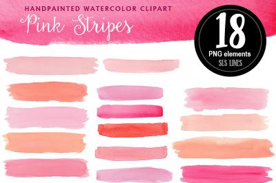 Pink Watercolor Stripes & Headers