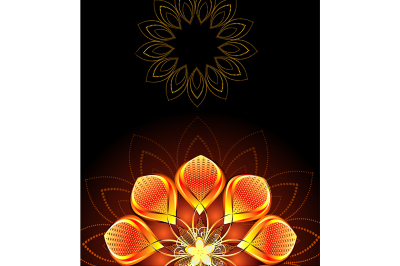 Abstract Bright Flower