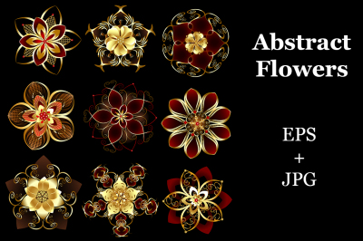Jewelry Abstract Flowers
