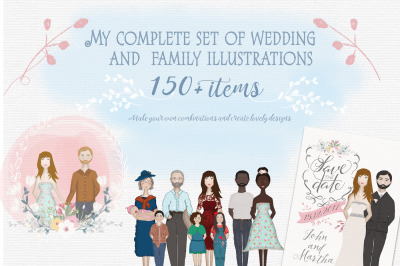 Set of Wedding and Family portrait creator