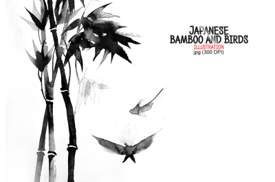 Japanese bamboo and birds