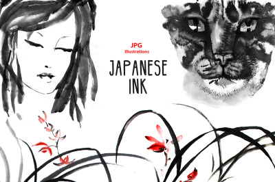 Japanese ink clipart