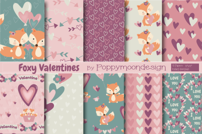 Foxy Valentines paper