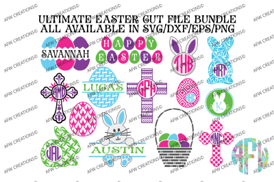 Ultimate Easter Bundle - $135 Value - Cut Files - SVG, DXF, EPS, PNG