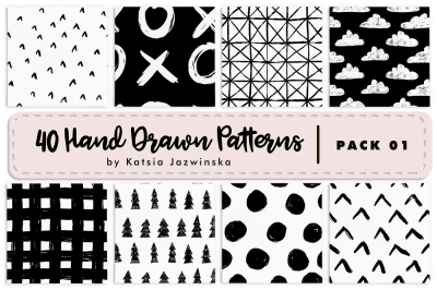 40 Hand Drawn Patterns | Pack 01
