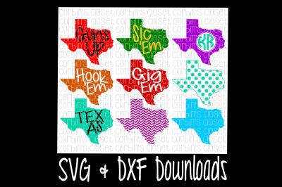 Texas SVG * Texas Monogram SVG Cut File