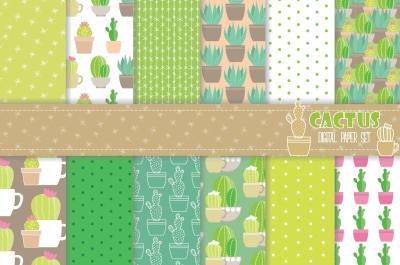 Cactus Digital Paper Set
