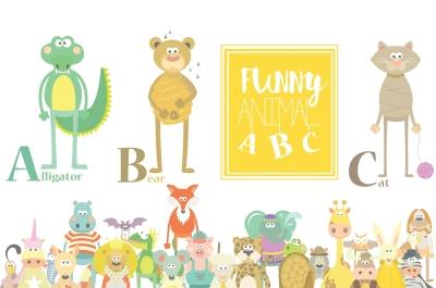 Animal ABC Clipart Cute Set