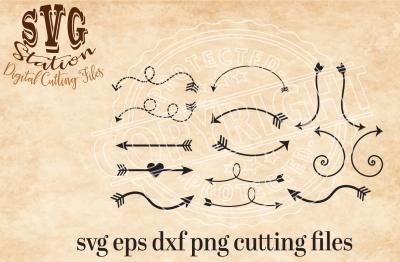 Arrows Svg Swirl Arrow Svg Arrow SVG DXF PNG and Eps Instant Download Digital Vector Cut File Scrapbook Htv Silhouette Cricut