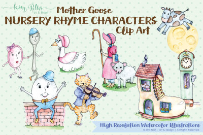 Clip Art: Mother Goose Characters