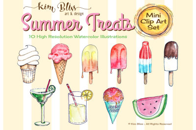 Clip Art Illustrations: SUMMER TREATS