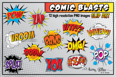 Clip Art: Comic Blasts / Comic Book Art